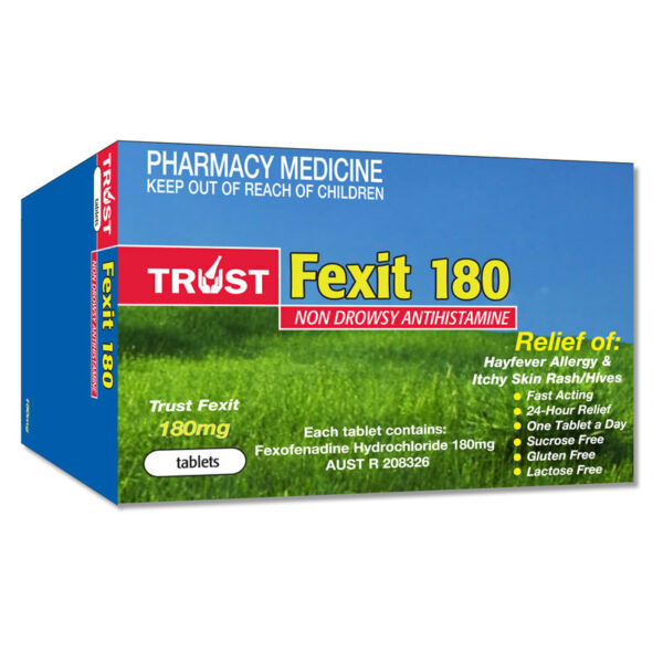 Details about ツ TRUST FEXIT 180MG TABLETS NON DROWSY HAYFEVER ALLERGY  RELIEF ANTIHISTAMINE