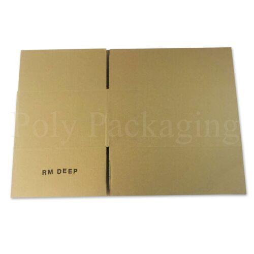 "100 x 13.5x9.5x5.7/"" SINGLE WALL Cardboard Boxes Medium Storage 342x242x145mm"