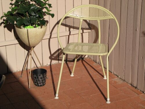 Mid Century Modern Folding Patio Chair Original Paint and Feet Eames Era