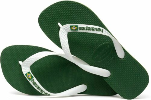 Havaianas Men Brasil Logo Amazonia Green//White Flip Flops