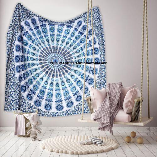 Mandala Indian Kantha Bedspread Handmade Quilt Throw 100/% Cotton Blanket Queen