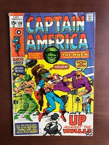 Captain-America-130-1970-6-5-FN-Marvel-Key-Issue-Comic-Bronze-Age-Hulk-App