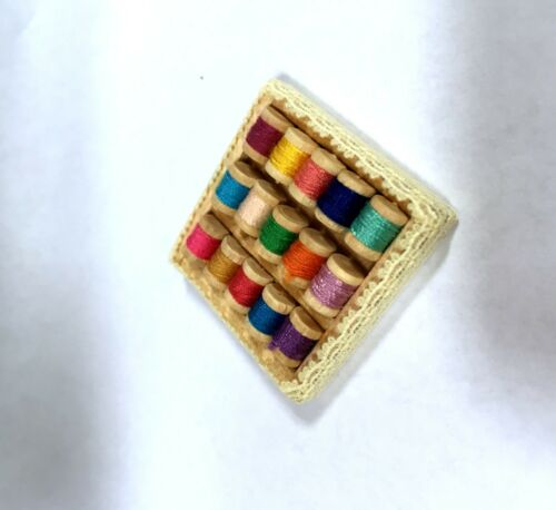 Dollhouse Miniature filled  WITH 15 Thread in Tray.....