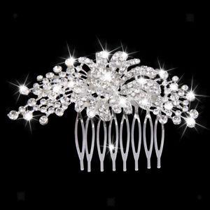 Peigne-a-Cheveux-Strass-Perle-Ronde-Bijoux-Mode-de-Mariage-soiree-bal-Femme