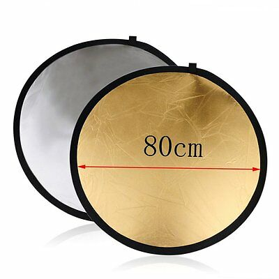 60cm 80cm 5in1 Photography Studio Light Mulit Collapsible disc Reflector DQ