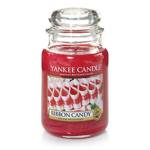 ☆☆RIBBON CANDY☆LARGE YANKEE CANDLE JAR 22 OZ☆HOLIDAY & CHRISTMAS SCENT