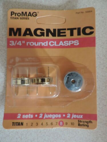 "Pro MAG MAGNETIC 3//4/"" ROUND CLASPS 2 SETS IN PKG PURSES HANDBAGS CRAFTS BUTTON"