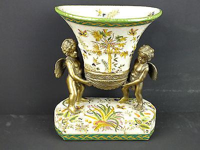 Porzellan Schale mit 4 tragenden Engeln für Konfekt Gebäck Obst im Antik Stil