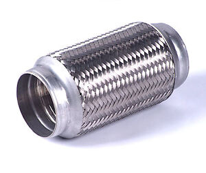 Details about  /Stainless steel flexible exhaust pipe Joint Repair Tube 38 x mm 1.5 x 4 inch for