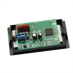 ac 80 500v 2 wire digital blue lcd circuit volt panel. Black Bedroom Furniture Sets. Home Design Ideas