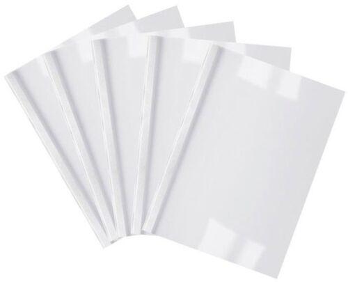 100 Thermobindemappen 6,0 mm Thermo-Bindemappen weiß