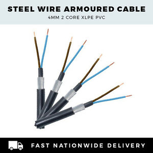 SINGLE PHASE 4MM 2 CORE SWA CABLE STEEL WIRE ARMOURED CABLE PER ...