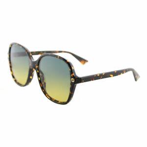 08e493e943 Image is loading Gucci-GG0092S-003-Light-Havana-Plastic-Square-Sunglasses-