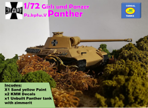 1//72 Girls und Panzer Custom model by Cereal Tanks Pz.kpfw.V Panther