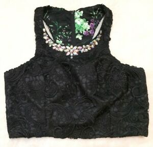 6b97d4dfa82bf Image is loading Vintage-Masquerade-Glam-Bustier-Top-Crop-Top-Jeweled-