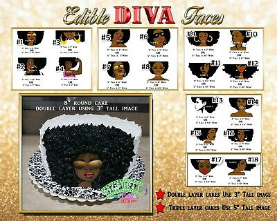 Marvelous Afro Diva Birthday Edible Cake Topper Edible Paper Sugar Sheet Funny Birthday Cards Online Alyptdamsfinfo