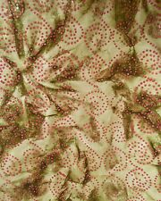 Quilter/'s Batiks White Carnation on Red 100/% cotton fabric by the yard