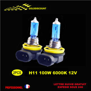 2-H11-100w-xenon-gaz-Halogene-eclairage-plus-blanc-6000k-12v