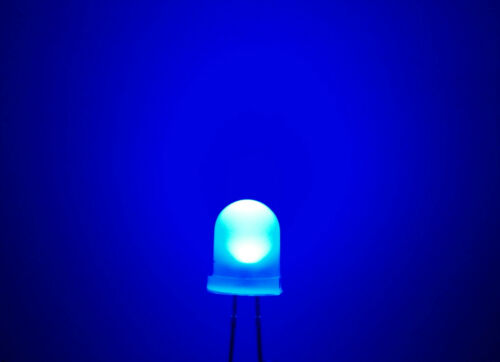 Yellow Diffused LEDs 8mm Red Blue Orange White UK Seller Green