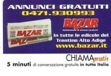 CHIAMAGRATIS - BAZAR - ANNUNCI GRATUITI - VALIDITA' DAL 15/11/2001 AL 31/03/2002