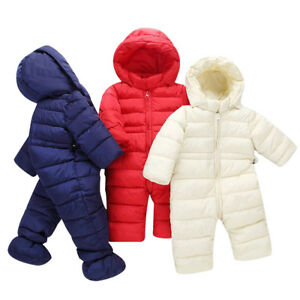 c9a45b971bbd Newborn Winter Thick Snowsuit Baby Boys Girls Outwear Romper Warm ...