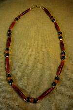 Native American Indian - **Man Beads!**  Stunning Amber Buffalo Bone Necklace