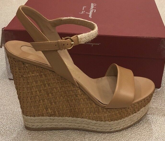 650 Nueva Salvatore Ferragamo Marrón Tacones Zapatos Sandalias Sandalias Sandalias para mujer señoras C 10 US 40  directo de fábrica