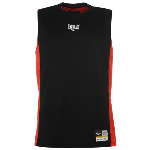 Everlast Herren ärmelloses T-shirt Basketball Tshirt T Shirt Jersey Vest Top 972