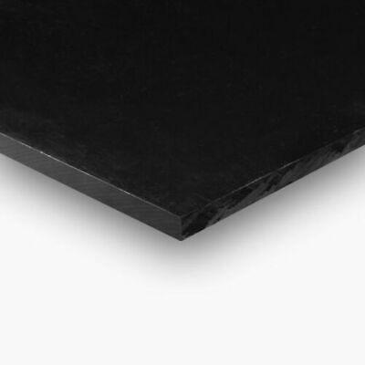 """BLACK HDPE 1//4/"""" X 6/"""" X 12/"""" NO TEXTURE POLYETHYLENE PLASTIC SHEET"""
