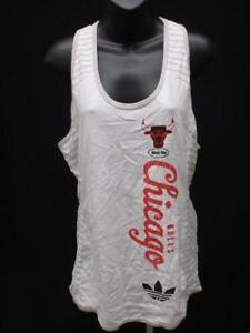 Details zu Neu Chicago Bulls Damen Größen S M L XL 2XL Weißes Adidas Tank Top Shirt