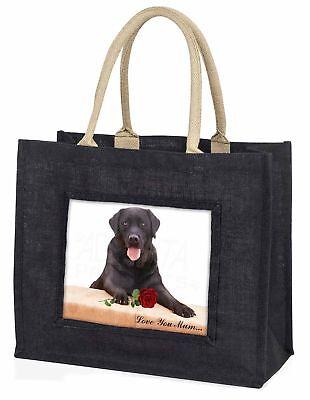 schwarz Labor mit rosé' Liebe,die sie Mama' große Einkaufstasche