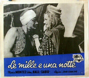 EXOTIC-AVENTURE-ARABIAN-NIGHTS-MARIA-MONTEZ-1942-FOTOBUSTA-JOHN-RAWLINS