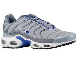 Details about NIKE AIR MAX PLUS TN MENS SHOES WOLF GREY/BLUE SIZE 10.5  604133 094