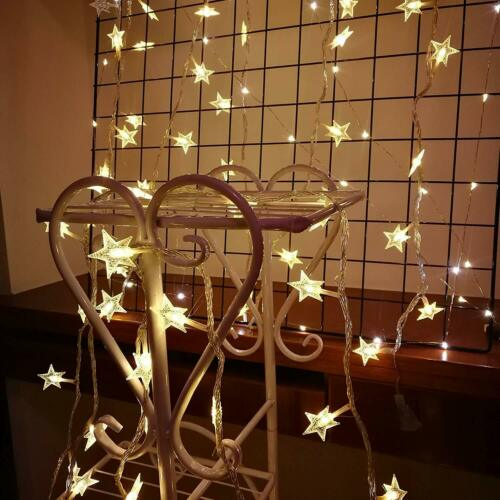 3m Warm White Star Shape Fairy Lights Battery Powered String Lights with 20 LEDs