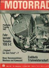 M6708 + Fahrbericht YAMAHA YDS 5-E, 250 ccm + Das MOTORRAD 8/1967