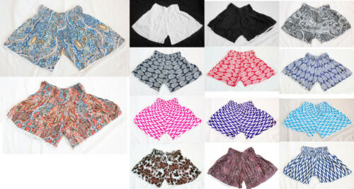new Stretchy//Elasticated Ladies shorts fits UK size 8,10,12,14 LACE TRIM SUMMER