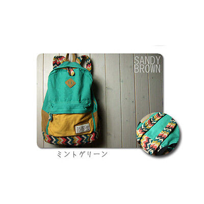 Women Girl Unisex Travel Backpack Canvas Leisure Bags School bag Rucksack New