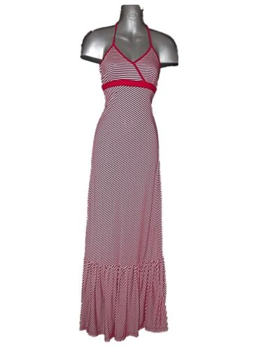 SASSY NEW Ex-STORE RED /& WHITE STRIPE MAXI DRESS Sz 8 SUMMER HOLIDAY *REDUCED!*