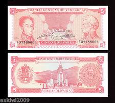 VENEZUELA 5 BOLIVARES 1989 p-70 Nuovo di zecca UNC FIOR banconote