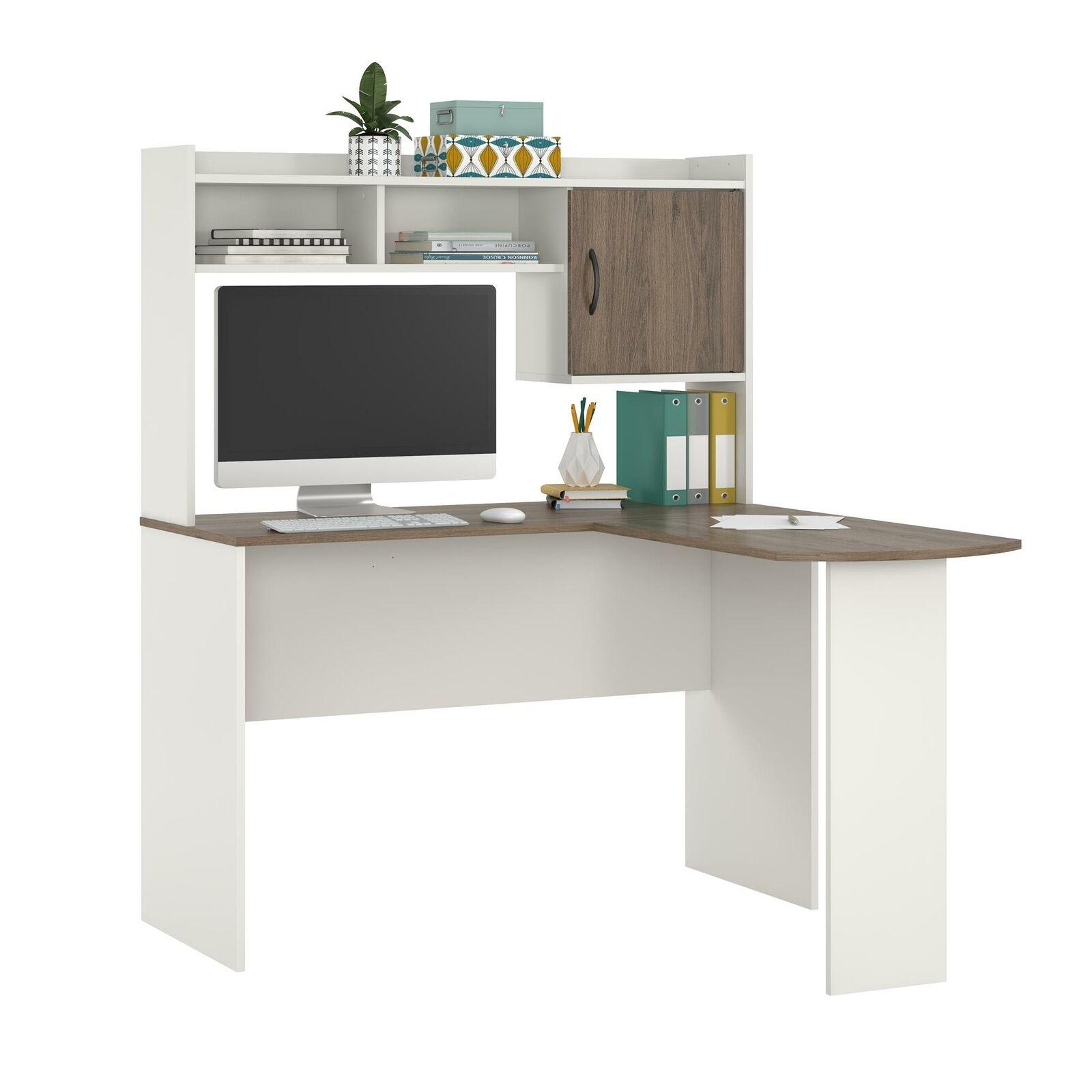 White Mainstays Corner L Shaped Desk Tiendamia Com