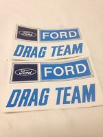 Ford Drag Team Vintage Style Sticker Decal Hot Rat Street Rod Race Gasser Drag