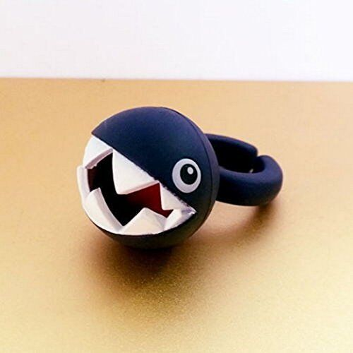 Chain Chomp Super Mario Fashion Ring One Size Fits Most Ring Aprox 1.25/""