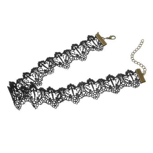 Women Vintage Lace Up Gothic Punk Choker Collar Retro Tattoo Necklace Jewelry