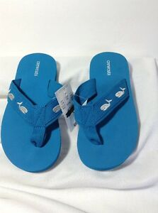 e068392e441ab6 New! Youth J. Crew Crewcuts Turquoise Blue Flip Flop Sandals Size 12 ...
