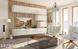 Details zu Moderne Wohnwand FUTURE 16 Hochglanz TV-Schrank LED Beleuchtung  Möbel Wohnzimmer