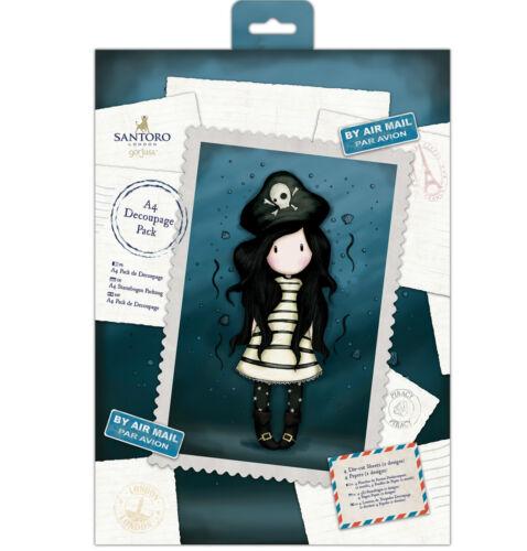 DOCRAFTS A4 Hojas Decoupage GORJUSS Decoupage Papel Postal Colección la piratería