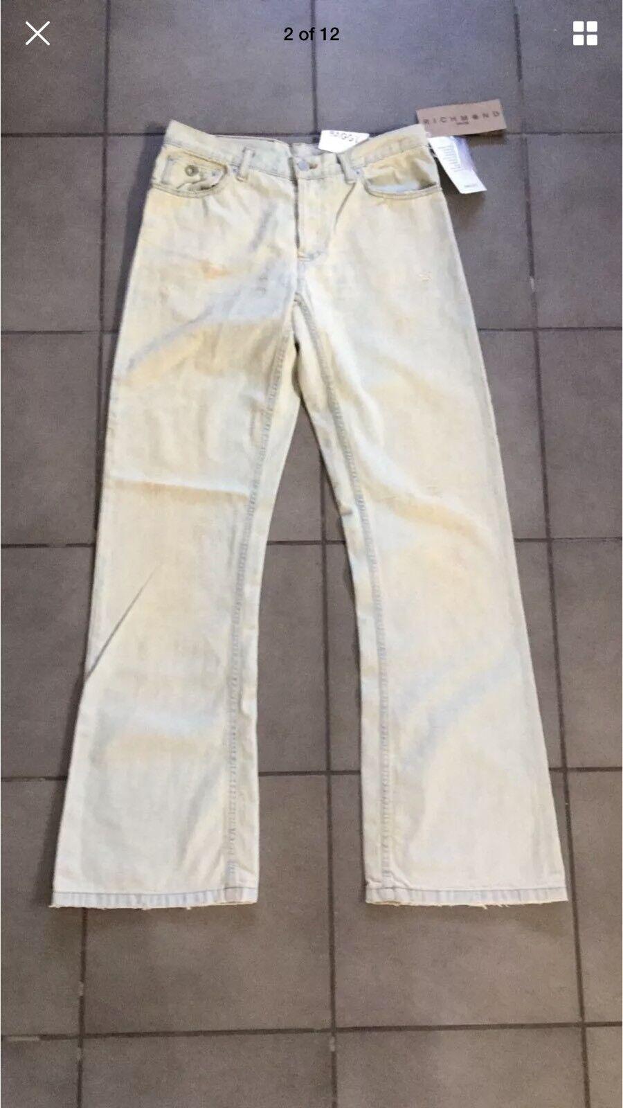 Richmond New  Men's Buttons Closure Jeans W32 L32 Size 27