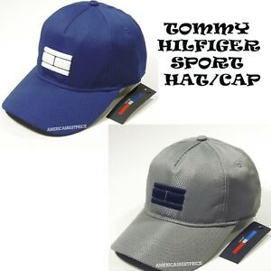 13e32005d97 TOMMY HILFIGER NEW MEN S BASEBALL SPORT CAP HAT BLUE   GRAY NICE ...