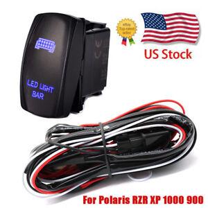 for polaris rzr 1000 900 ranger 12vrocker switch wiring harness led