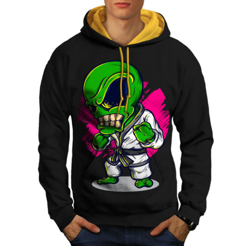 Black Hoodie Alien Fashion Karate gold Men Mad New Hood Contrast qp1qSnx